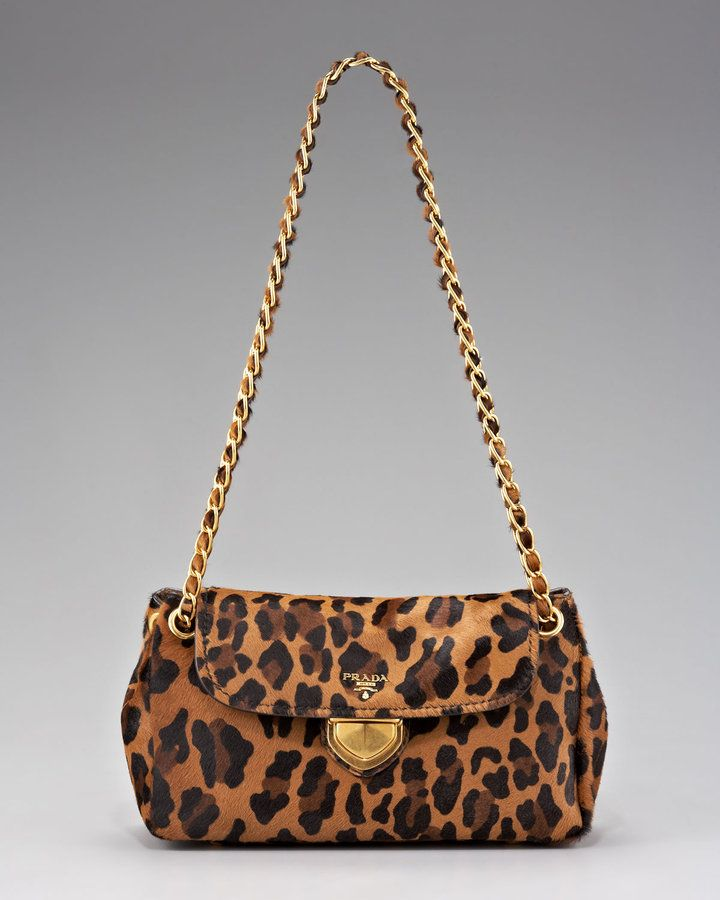 c0a86d671cd5 Prada Cavallino Leopard-Print Hair Calf Chain Bag for Sale | Prada ...