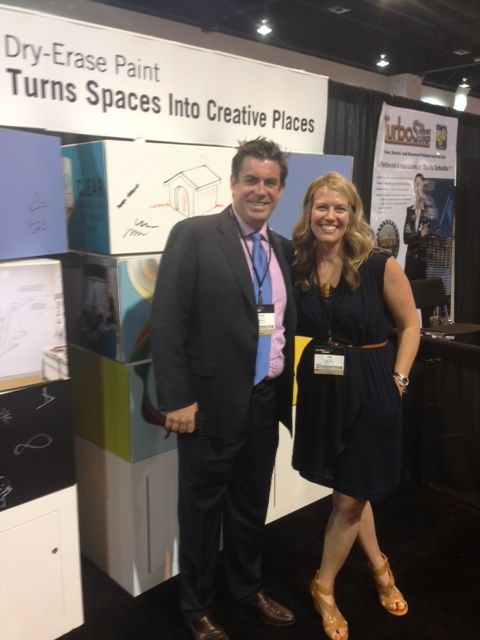 Having a blast at AIA today with our partners from @MDC Wallcoverings. Come say hello through Saturday! #aia2013