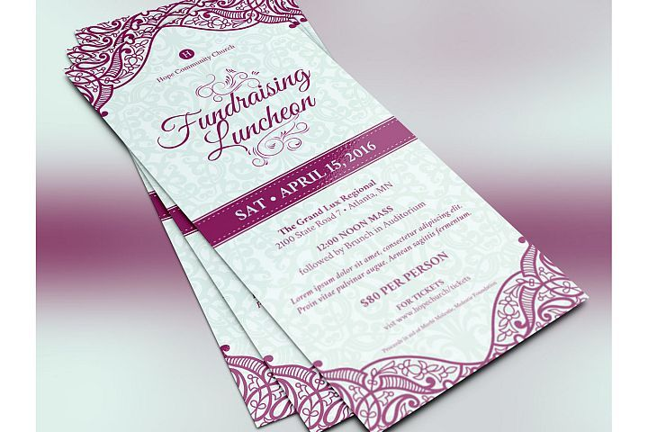 Fundraising Luncheon Flyer Template from DesignBundlesnet Design
