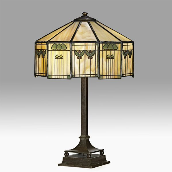 Shop Rago Early20th Stained Glass Lighting Antique Lighting Tiffany Style Lamp