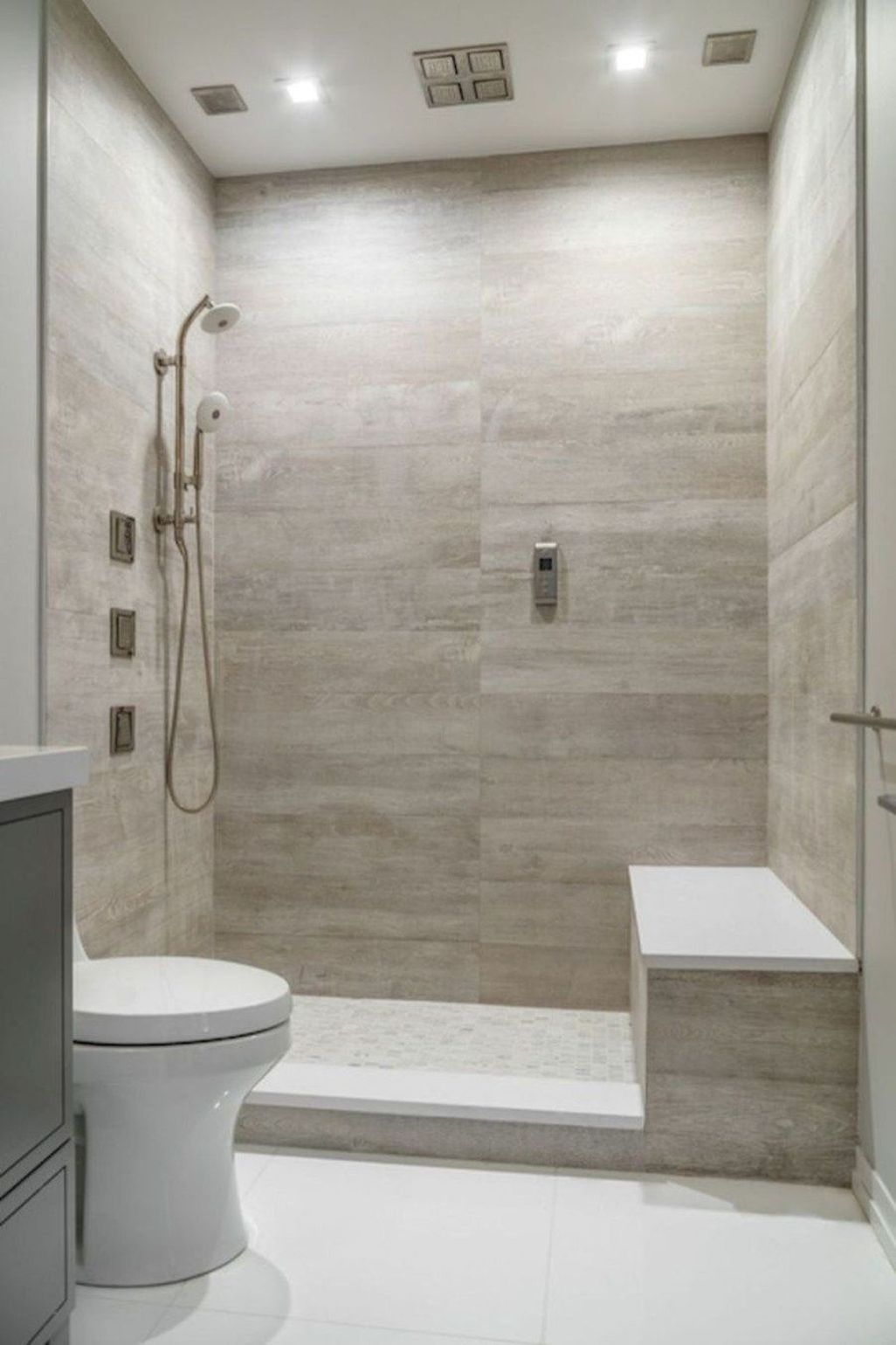 45 Stunning Modern Small Bathroom Design Ideas Best Bathroom Tiles Bathroom Remodel Shower Small Master Bathroom