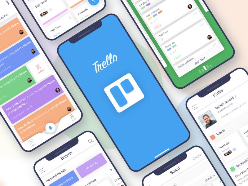 Trello Redesign iOS Application Ios application