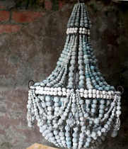 Hand Beaded Ceramic Chandeliers Made By Hiv Positive Women A Good Cause To Support