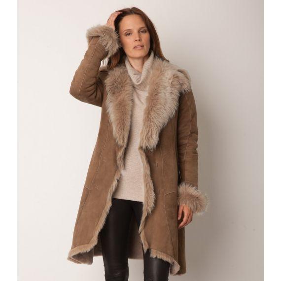 Aspiga Toscana Coat Camel. £650. The luxurious sheepskin coat ...