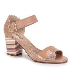 8b4f5706b Sandália Salto Grosso Beira Rio - Nude | Обувь | Pinterest