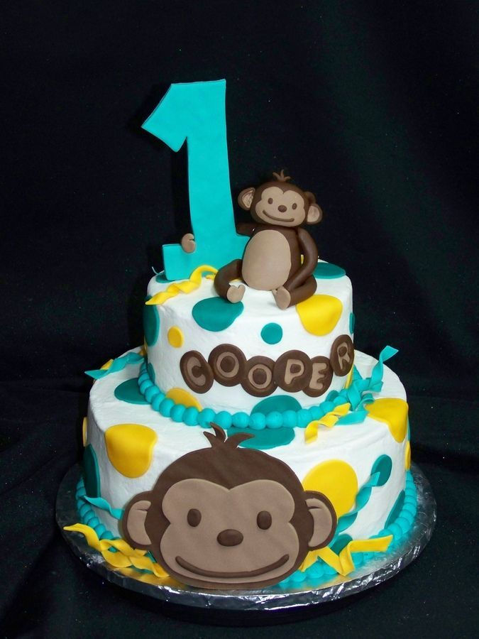 1000 ideas about Monkey Birthday Cakes on Pinterest Monkey Cakes