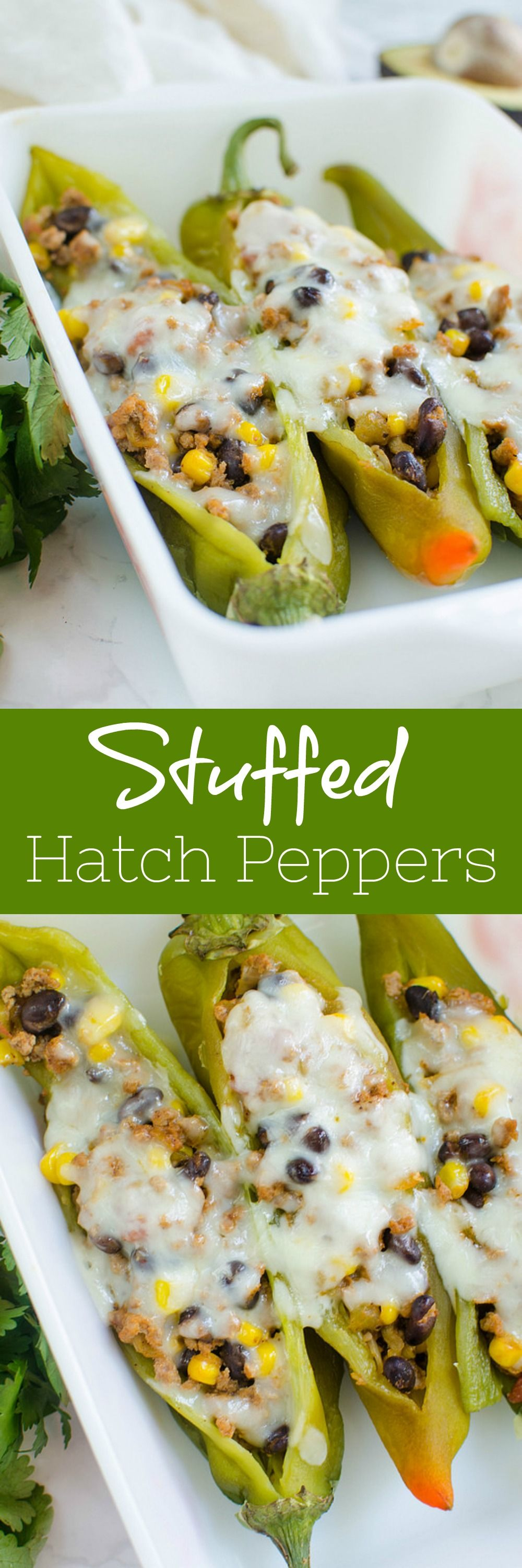 Stuffed Hatch Peppers Delicious Spicy Hatch Chiles Stuffed With Ground Turkey Black Beans Corn S Stuffed Peppers Hatch Peppers Recipes With Banana Peppers