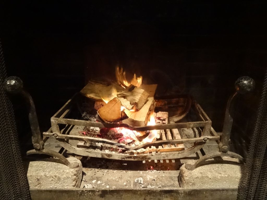 The fires are stoked and warming the Manor today. Christmas just isn't Christmas without a gorgeous log fire to gather around. http://www.calcotmanor.co.uk