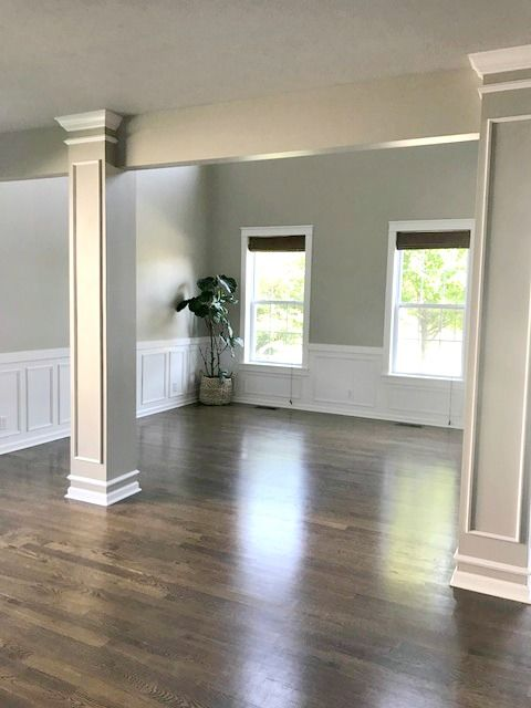 Moving Update And Our Empty House Dining Room Wainscoting White