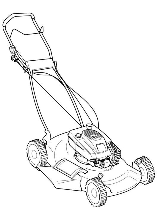 Coloring Page Lawn Mower Coloring Picture Lawn Mower Free
