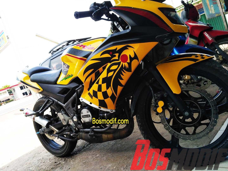 Modifikasi Motor Kawasaki Ninja R RR Warna Kuning Modifikasi Motor