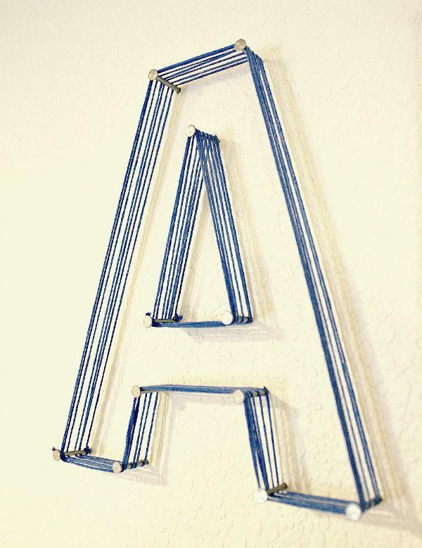 Buchstaben mit nagel und faden letters pinterest for Kreative zimmereinrichtung