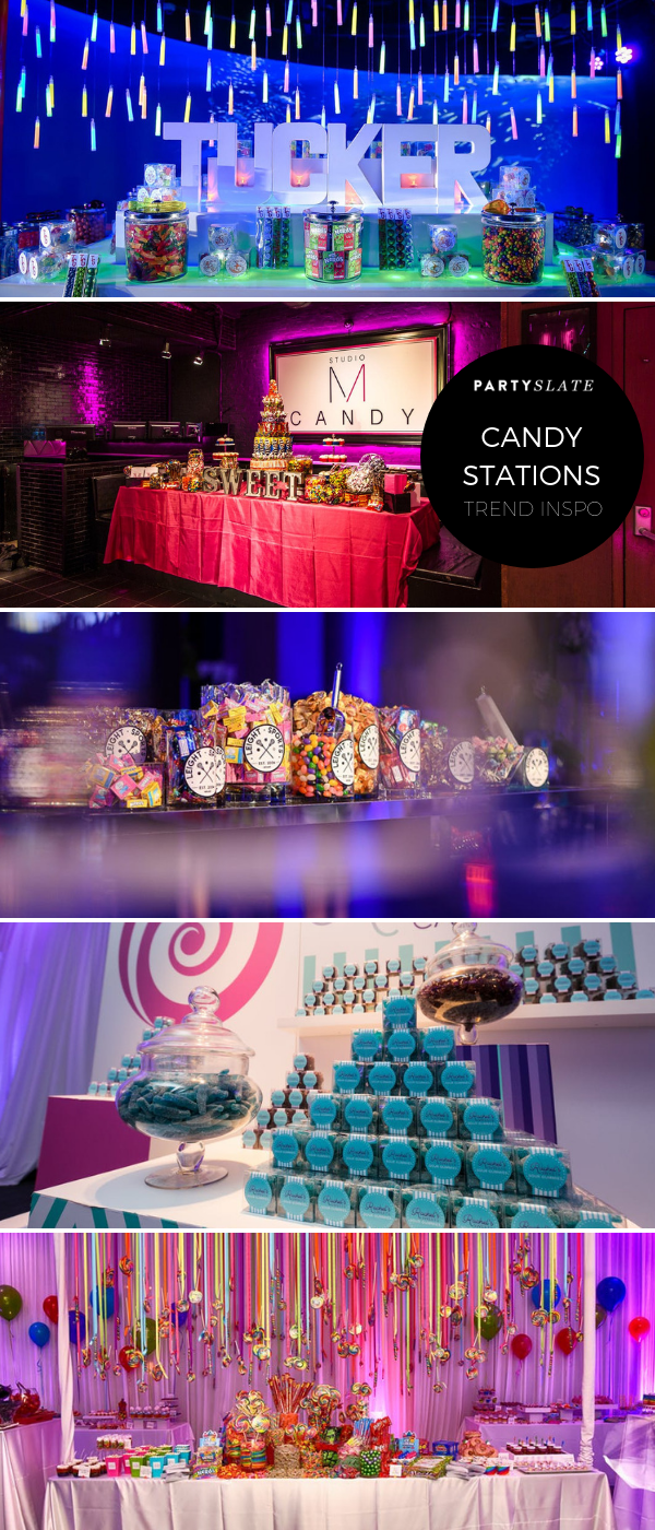 Candy Stations Are Fun Takes On Bar And Bat Mitzvah Dessert Bars Whether It Be