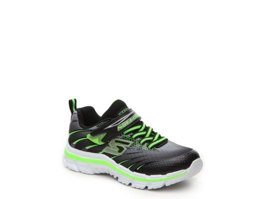 Men's Skechers Nitrate Pulsar Boys Toddler & Youth Sneaker - Black/Green