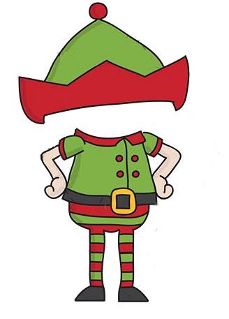 elf template diy christmas decors pinterest navidad