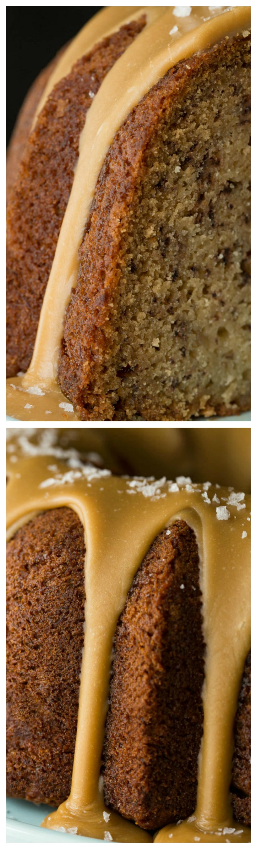 Banana pound cake with salted toffee icing recipe