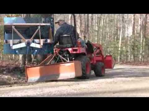 Using A Subcompact Tractor To Smooth A Gravel Driveway Part 1 Gravel Driveway Subcompact Tractors