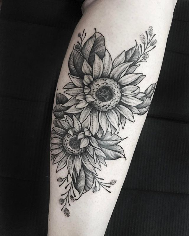 My Firearm Tat Add Daisy Sunflower Tattoo Sleeve Sunflower Tattoo Sunflower Tattoos