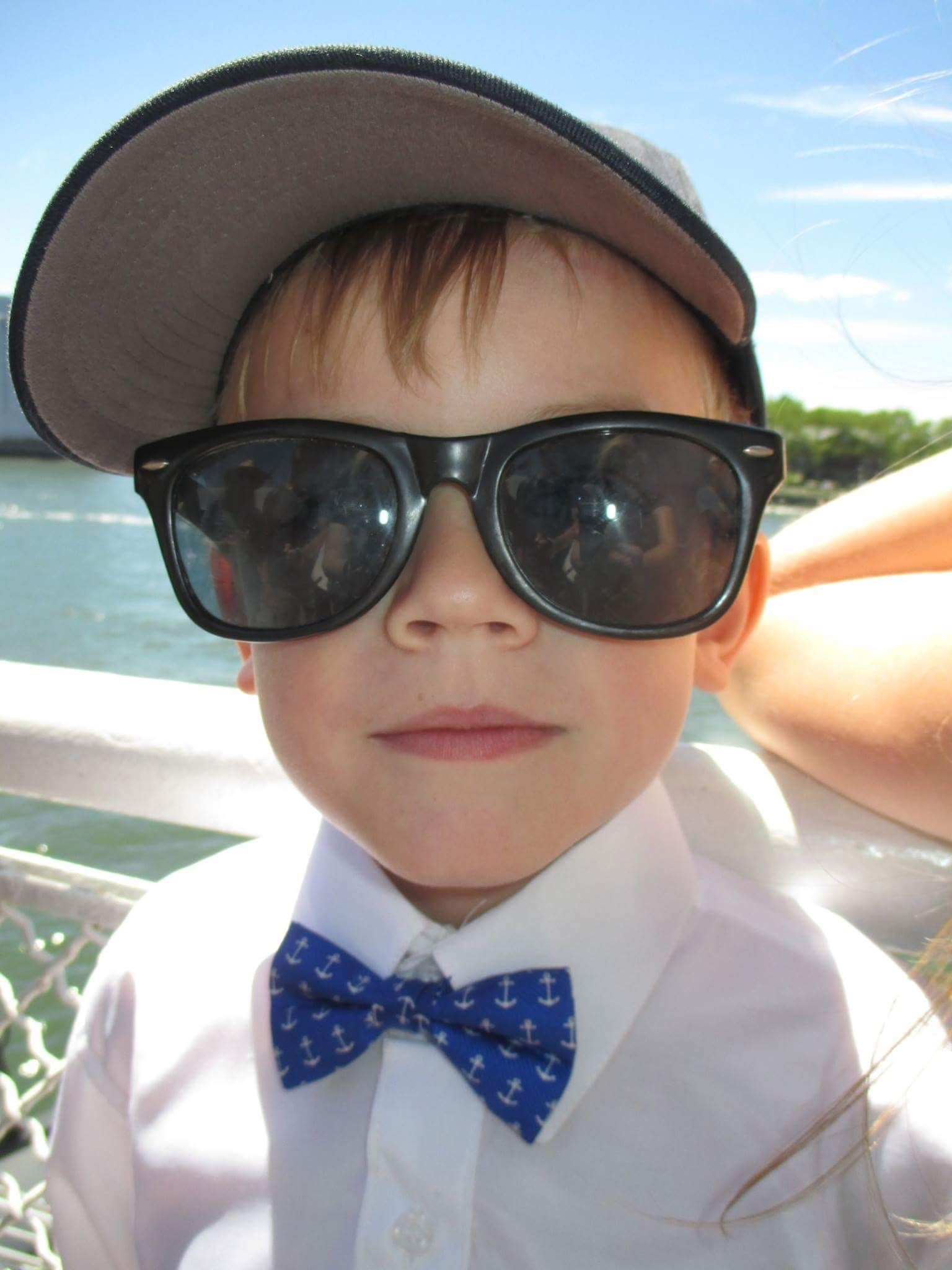 a3962cf8ef51 Theo looking #dapper in our Anchorman boys' bow tie! Lazyjackpress.com  #kids #boys #bowties #kidswear #fashion #style #anchors #preppy #cheers