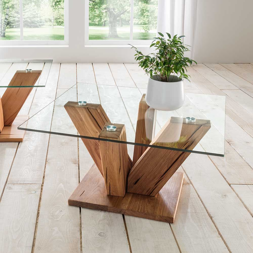 Pin by ladendirekt on tische pinterest for Design couchtisch nature lounge teakholz mit runder glasplatte