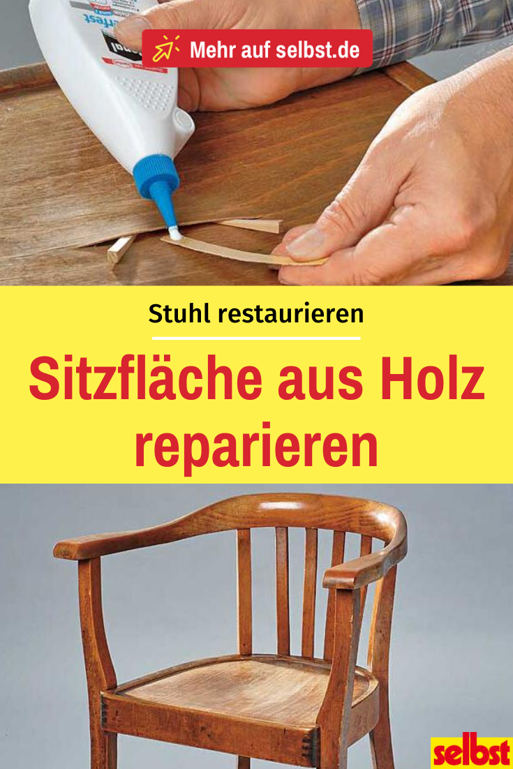 Sitzfläche Stuhl reparieren     Möbel reparieren