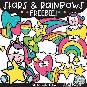 Stars and Rainbows FREEBIE! {1,000 followers freebie!}