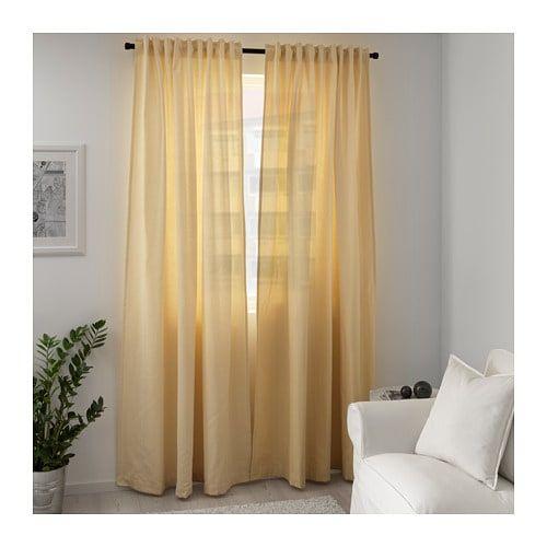 Tibast Curtains 1 Pair Yellow 57x98 Ikea Curtains Curtains Ikea