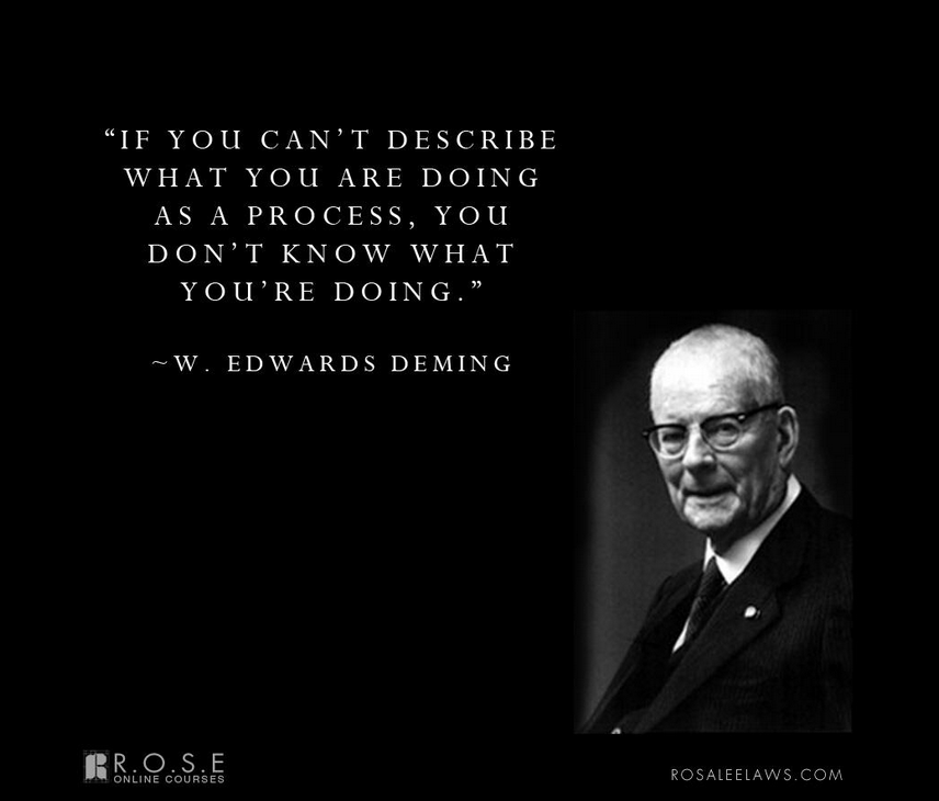 life and accomplishments of edwards deming Quality principles of deming, juran and crosby by rajalakshmi rahul on june 16, 2012  (edwards, 1982) quality principle by joseph m juran.