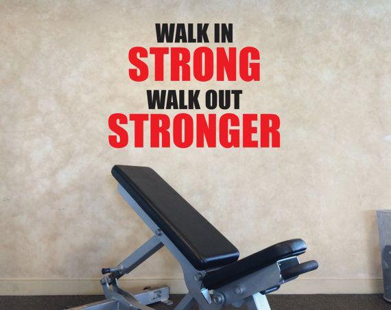 Gym decorating ideas gym wall decal gym motivation walk in
