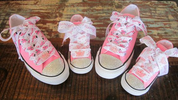 032c076cd2183 HARD SOLE Mommy Baby Toddler Shoe Sz 2-10 Swarovski Crystal Converse ...