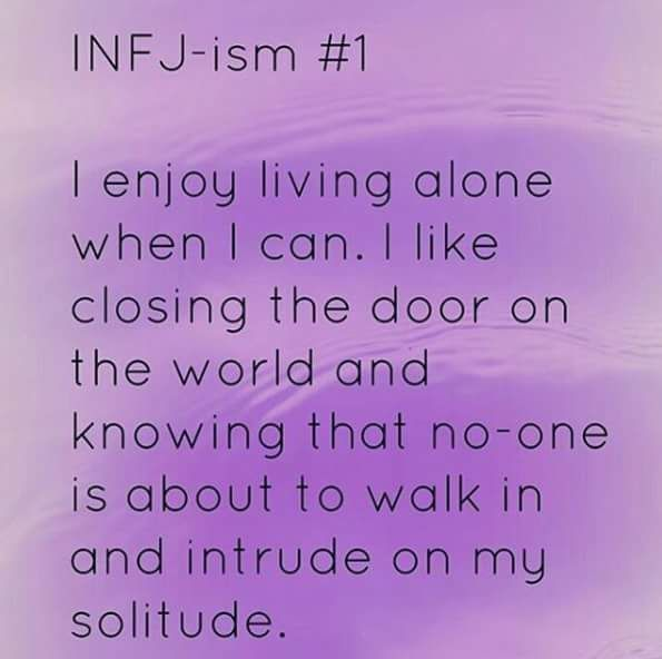 ... Why I love a) Being single and b) Living by myself. Simplicity in a complex world. #INFJ
