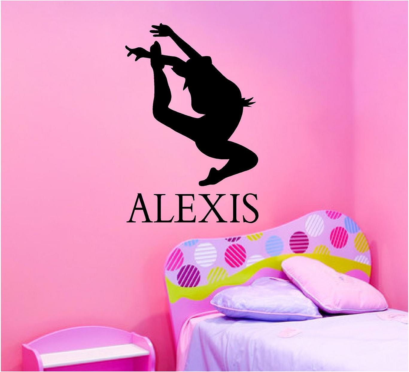 Vinyl Wall Decal SilhouetteDance With Name H X W - Custom vinyl wall decals dance