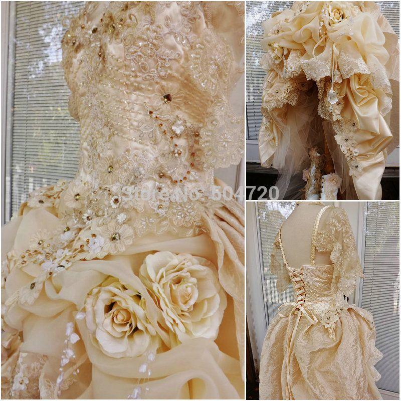 Custom Made 1860 S guerra Civil Gothic lolita vestido de boda ...