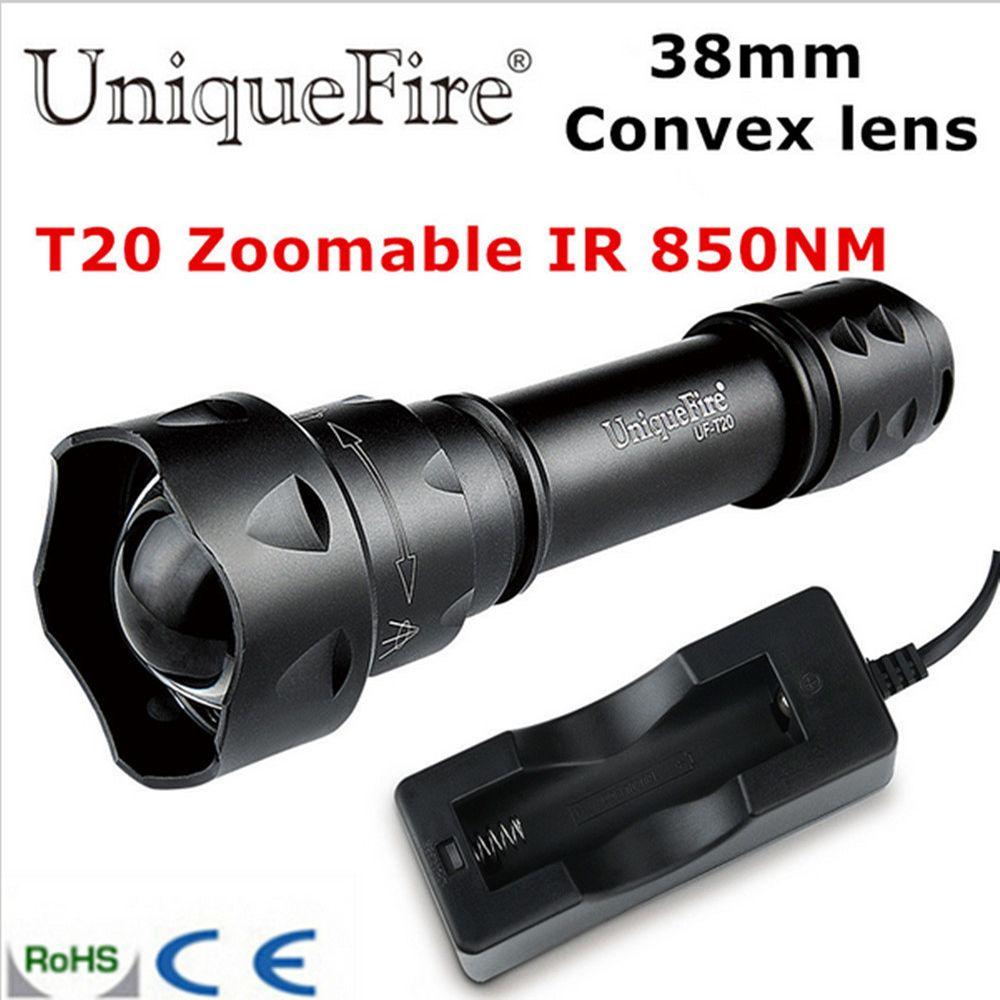 T20 IR 940NM Infrared Light Night Vision Flashlight 38mm Lens Torch For Hunting