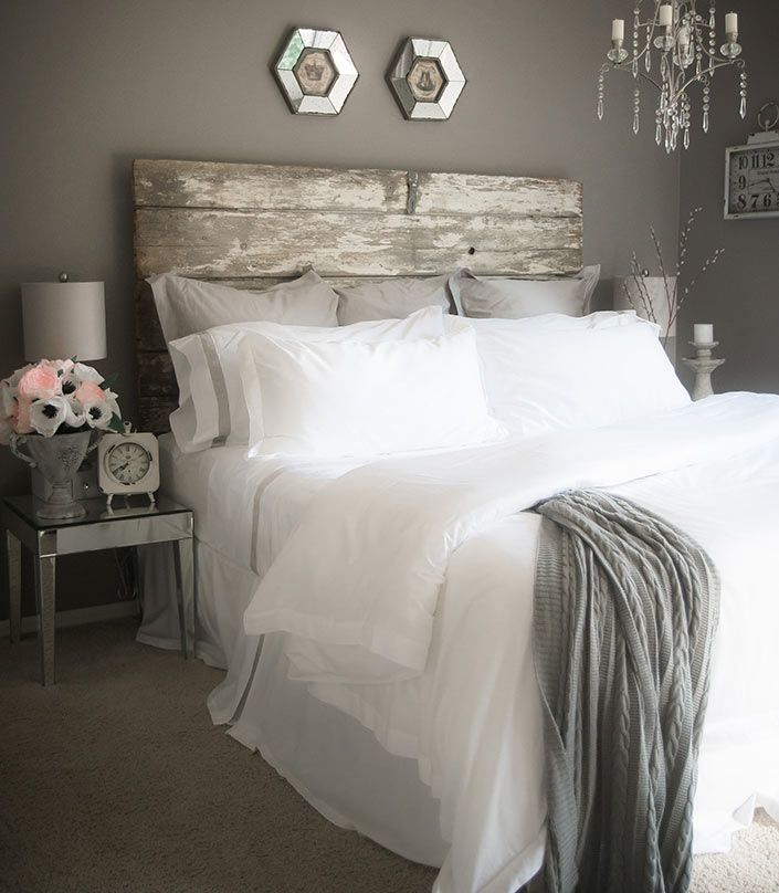 Rustic White And Grey Bedroom: Bedroom Makeover—A Grey And White Bedroom Idea