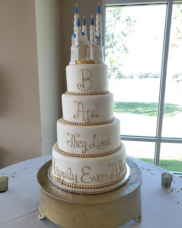 Disney inspired princess castle wedding cake castle