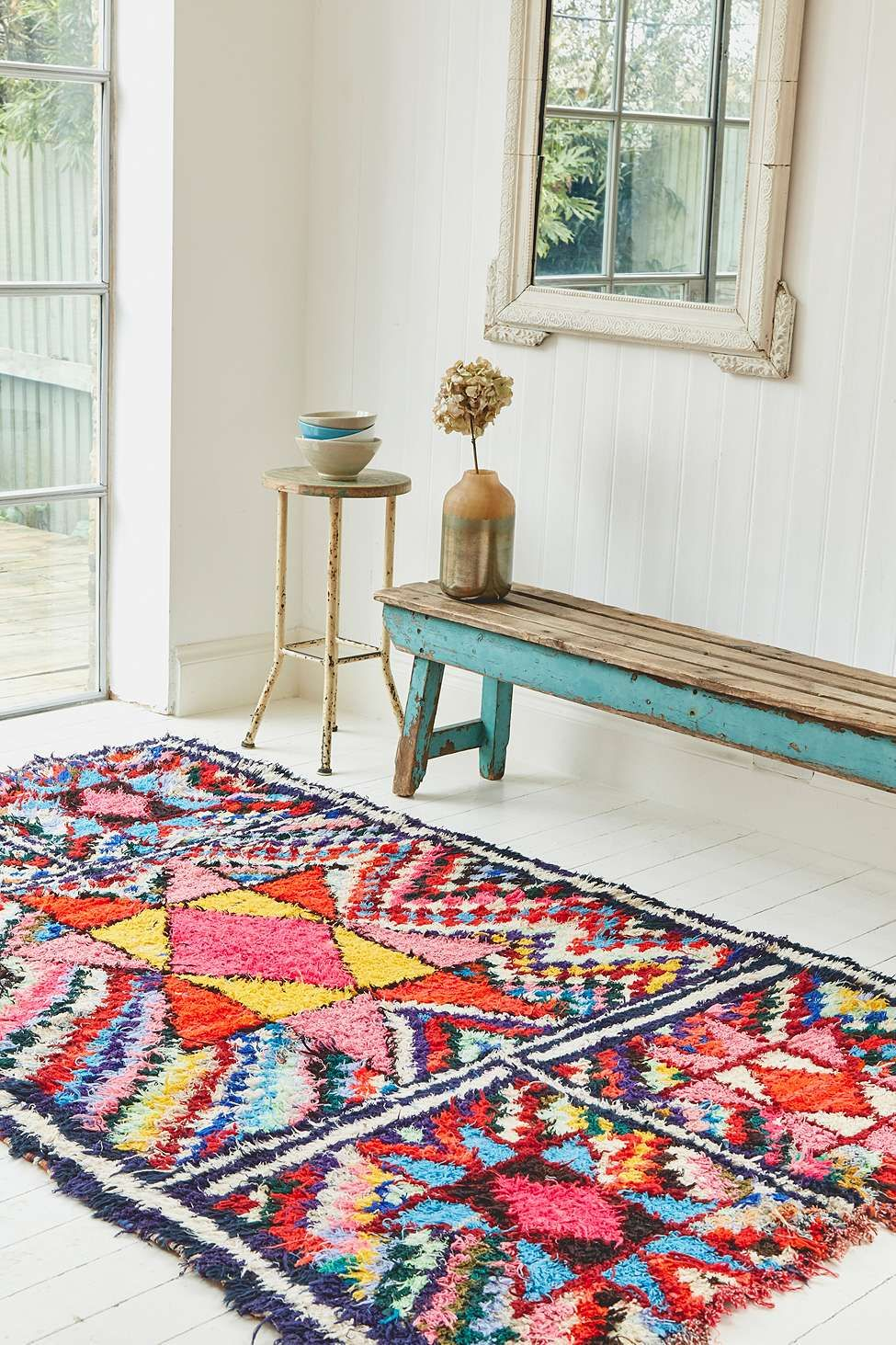 One Of A Kind Boucherouite 8x5 Rug Colorful Moroccan Rugs Rug Decor Boucherouite Rug