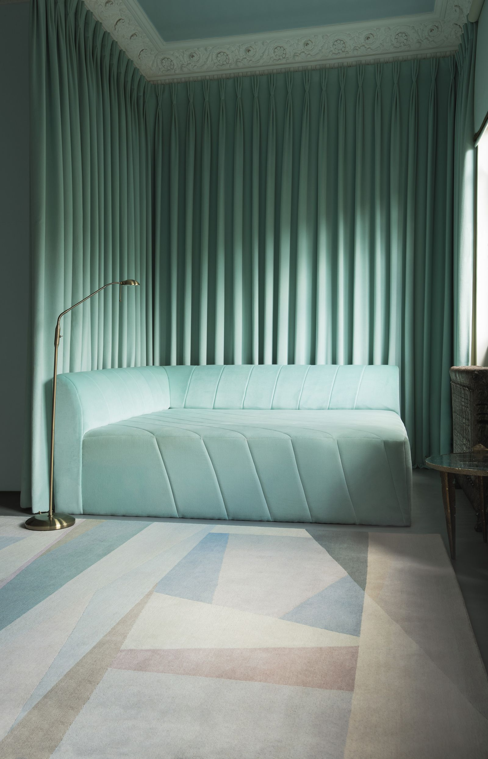 This rug by Paul Smith has a soft and sophisticated bination of