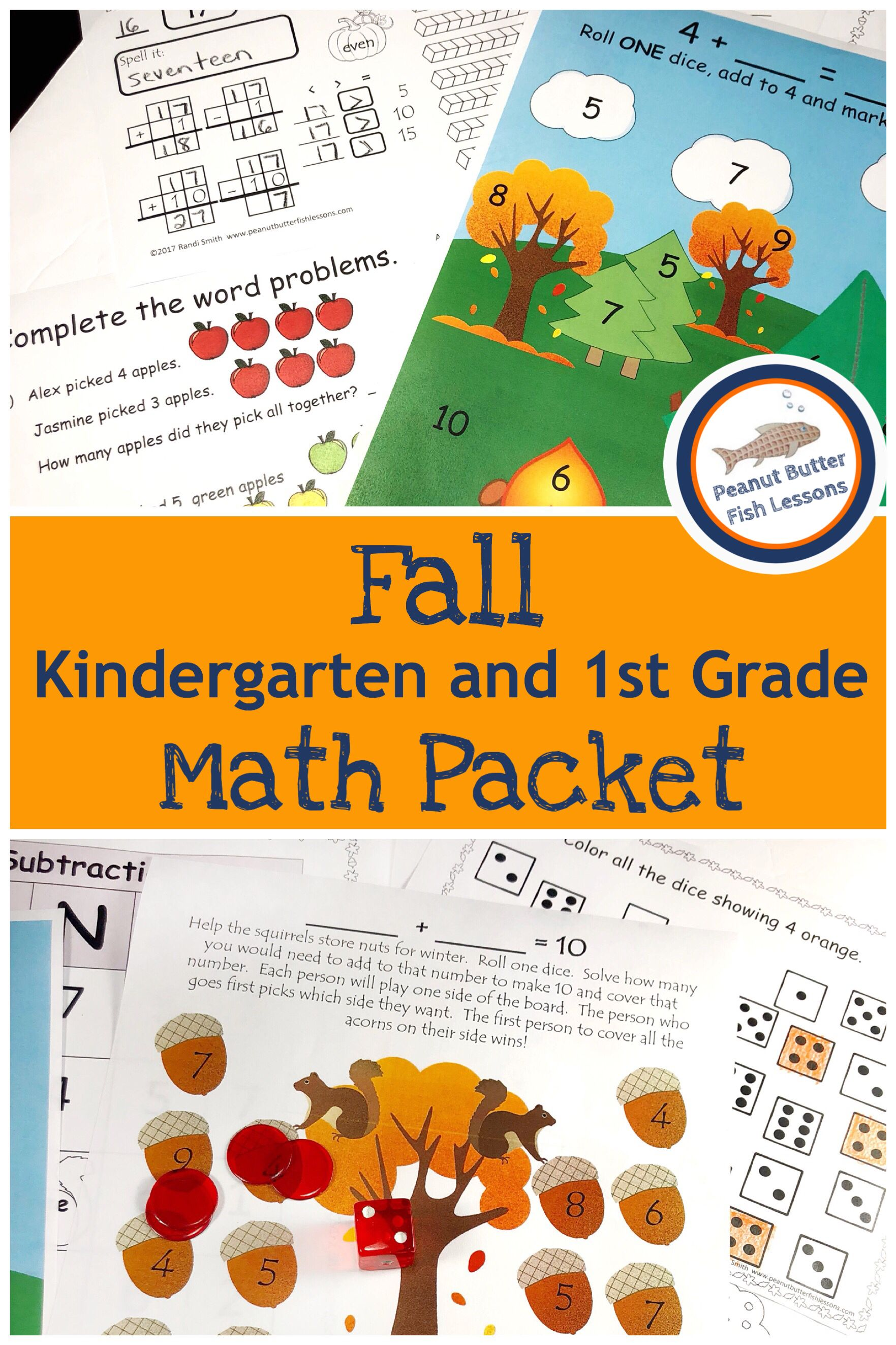 Fall Number Sense Packet For K And 1st Grade