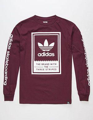 314054817b78b ADIDAS Classic Mens T-Shirt Burgundy