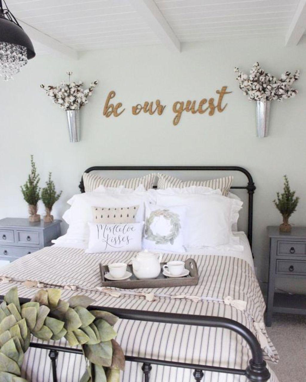 Bon 36 Gorgeous Farmhouse Bedroom Decor Ideas