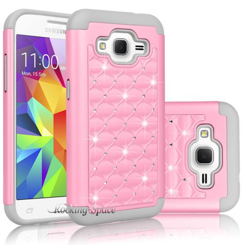 Hybrid Bling Crystal Case For Samsung Galaxy Core Prime Prevail ...