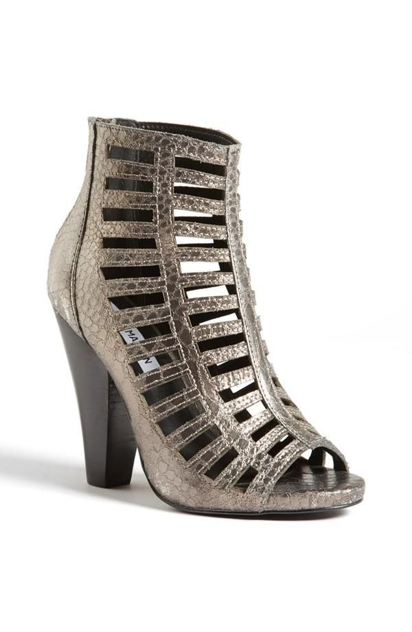Cyber Monday Deal: Steve Madden Silver Perforated Bootie, 33% Off