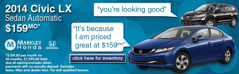 Great Honda deals at Markley Honda in Fort Collins