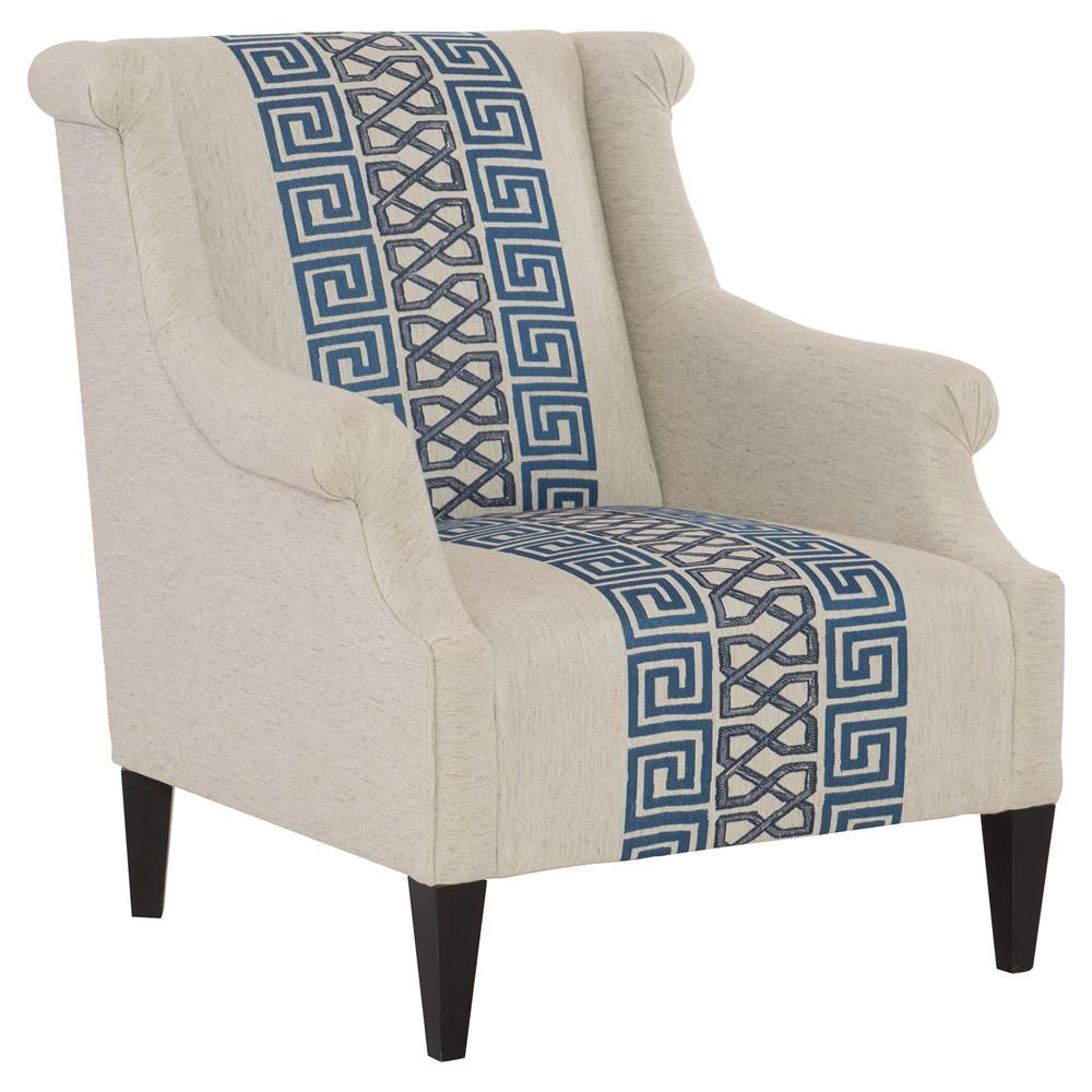 Best Callixto Modern Blue Greek Grey Beige Armchair Blue 400 x 300
