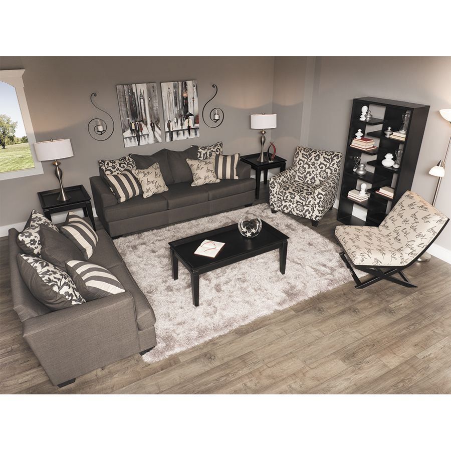 Bon Levon Charcoal Loveseat LL 734 L | Ashley Furniture 7340335   American  Furniture Warehouse