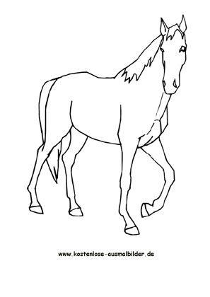 ausmalbilder pferde zum kostenlosen ausdrucken und
