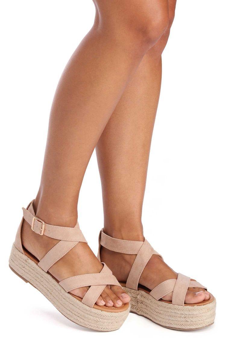 df66ce1156d Natural Suede Step Flatform Sandal