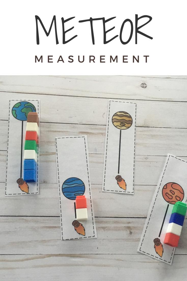 Meteor Measurement Space Themed Math Activity For Preschool And Prek Space Theme Preschool Space Activities Preschool Space Activities For Kids [ 1102 x 735 Pixel ]
