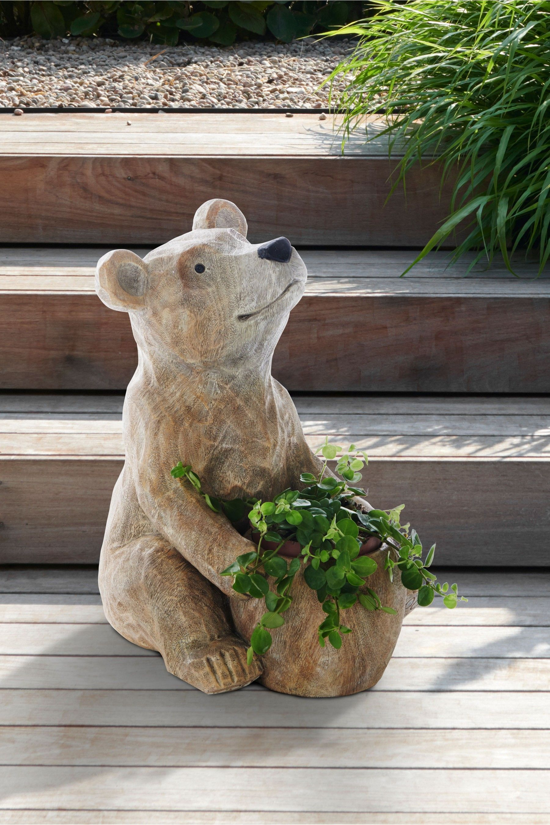 Garden Decorations  Bear sculptures, Planters, Teddy bear nursery